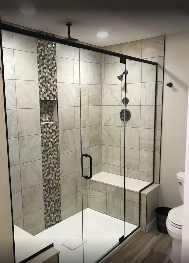 Shower with Sit-In Option Installation